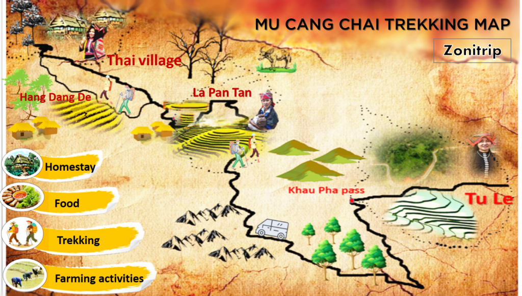 Hiking Mu Cang Chai map