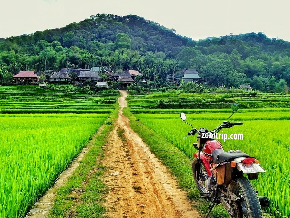 Motorbikes in Northern Vietnam