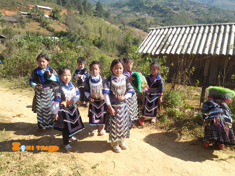 Hmong people - play throw ball in Tet holiday