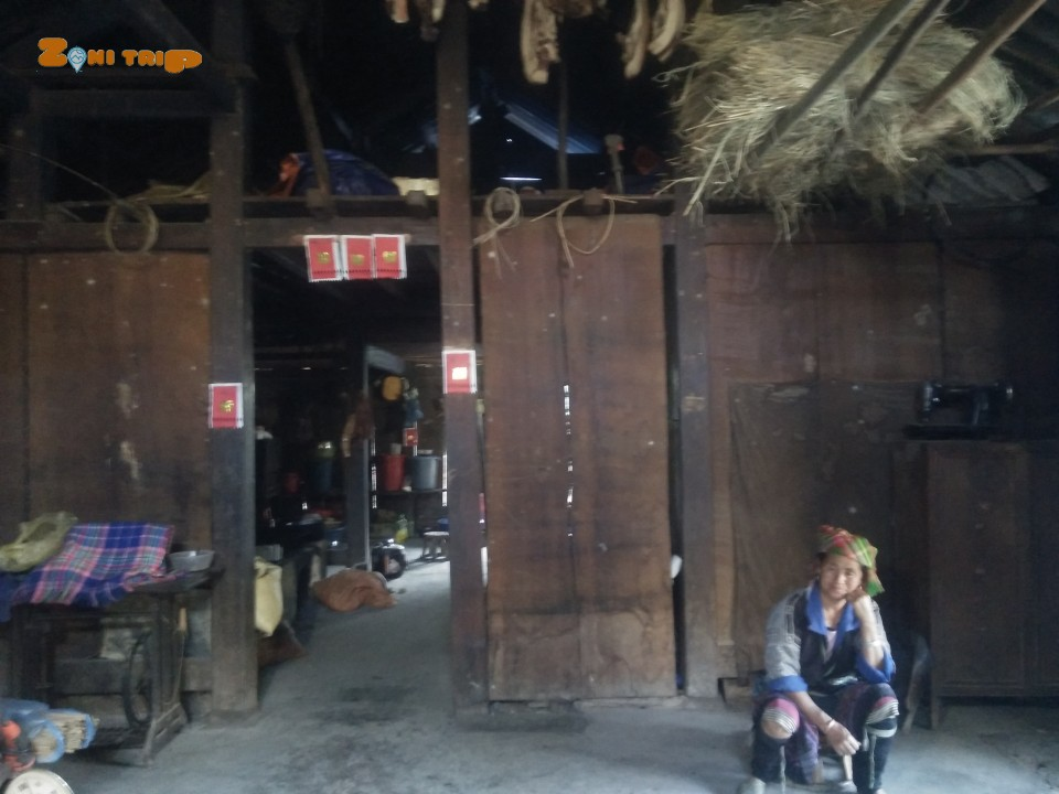 House of Hmong people in Tet holiday