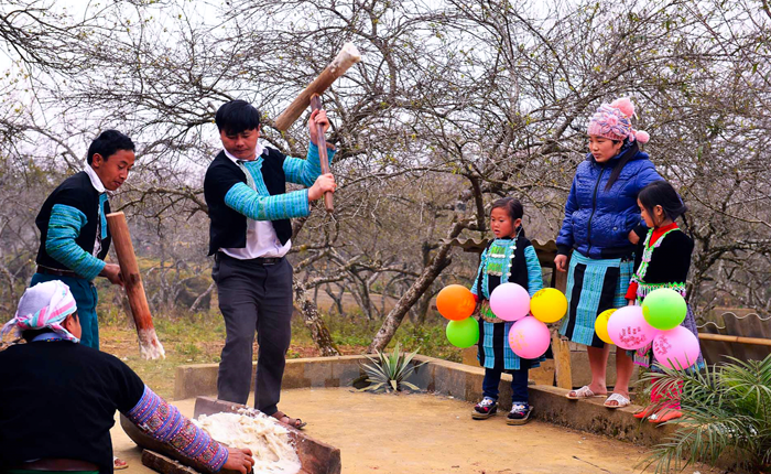 tet holiday of Hmong people in Son La