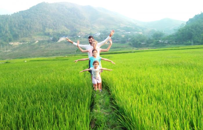 trekking mu cang chai - family
