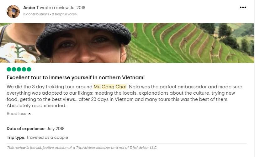mu cang chai trekking tour review
